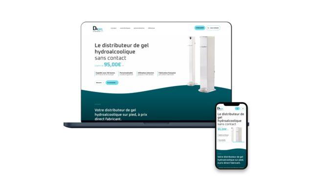 Création d'un site e-commerce mono-produit pour DM Industries