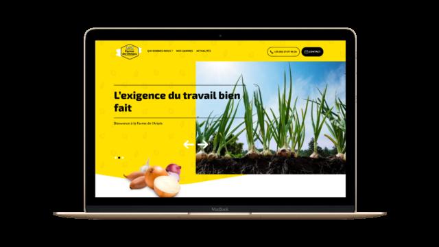 Création d'un site web vitrine pour Ferme de l'Artois